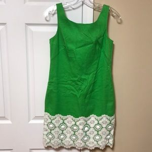 Lilly pulitzer green dress size 0